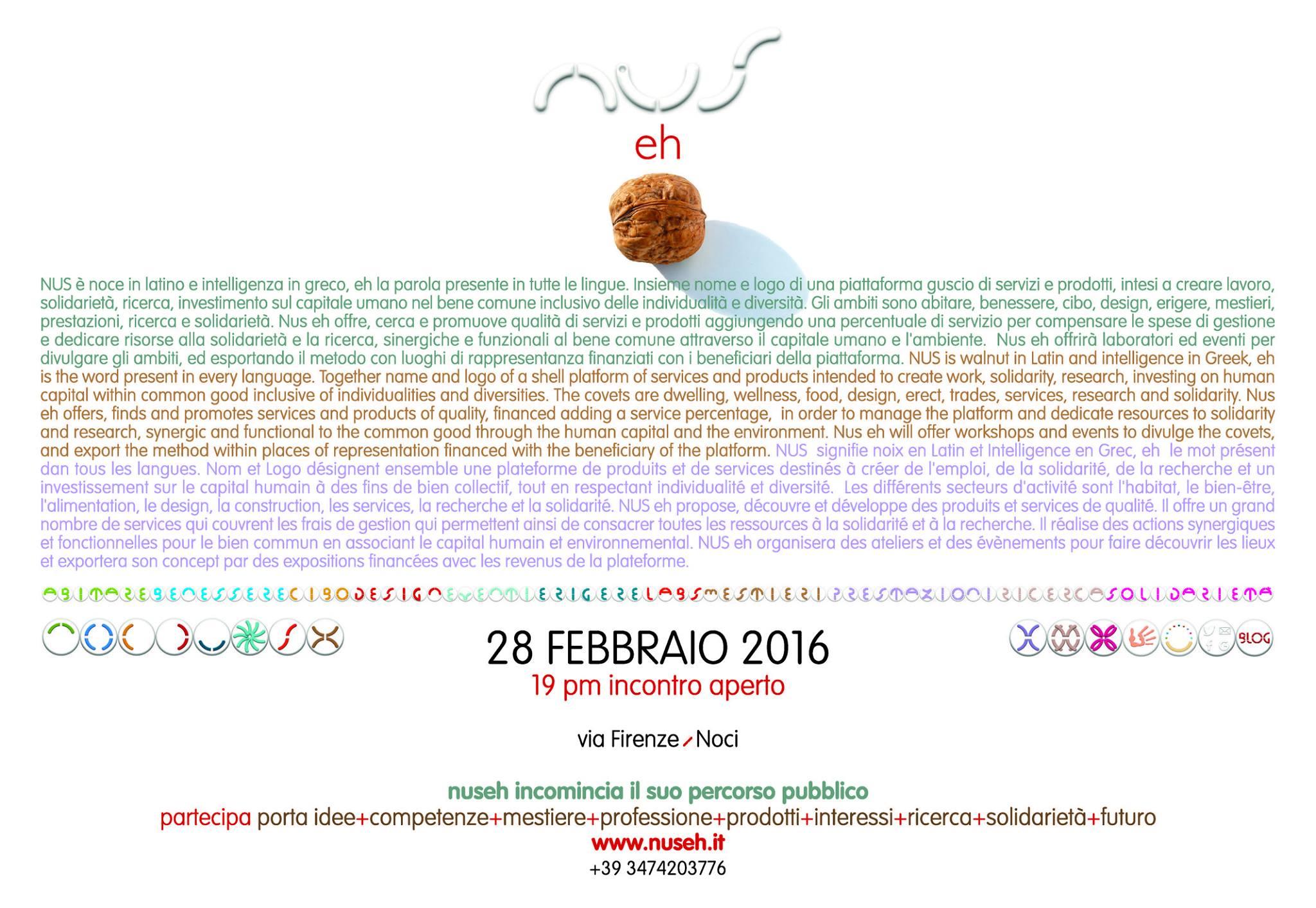 MANIFESTO Inaugurazione - EVENTI - NUSeh